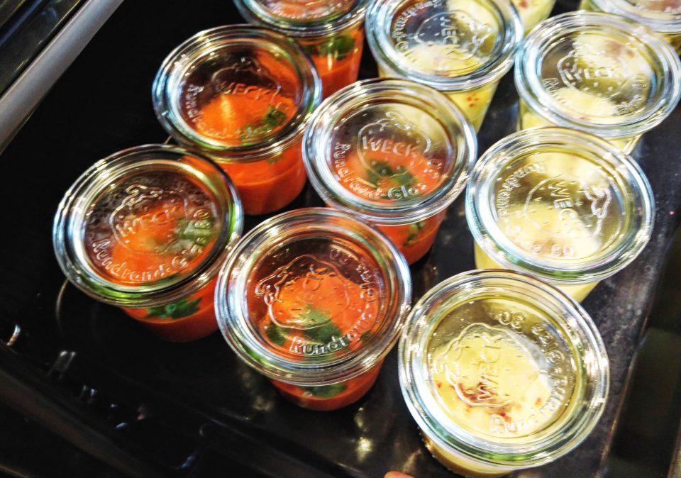 Zweierlei Tomatensuppe