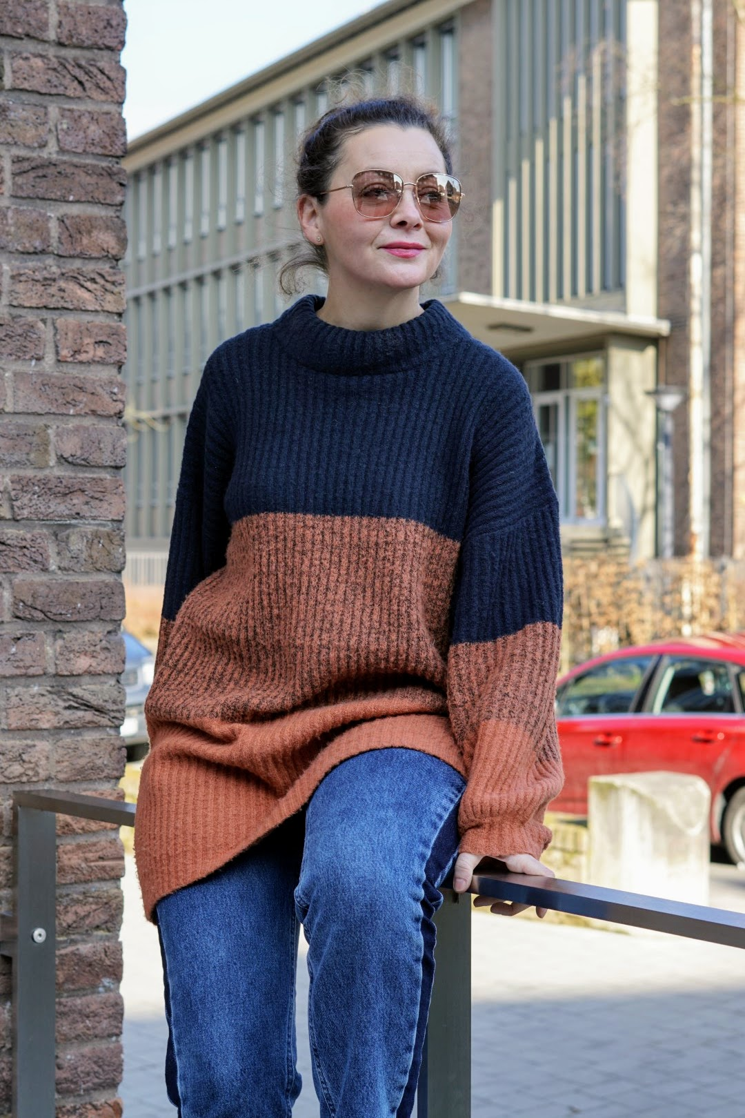 outfits mit kurzem pullover